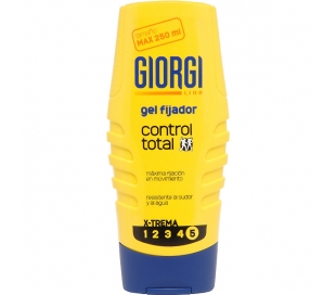 GEL FIJADOR CONTROL TOTAL GIORGI 250 ML.