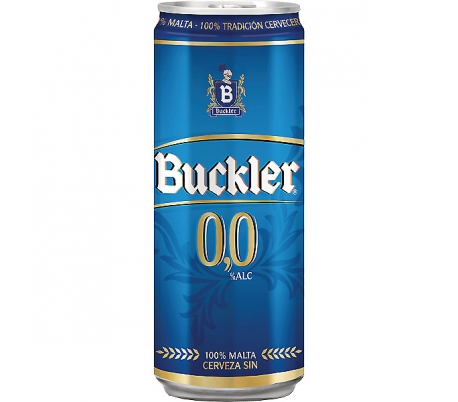 CERVEZA 0% SIN ALCOHOL BUCKLER LATA 33 CL.