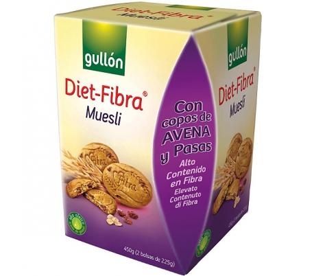 GALLETAS DIET-FIBRA MUESLI GULLON 450 GR.