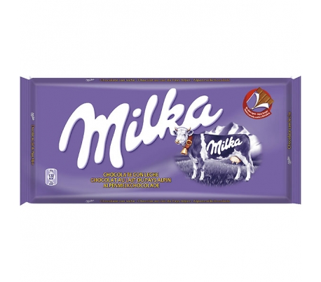 CHOCOLATE LECHE MILKA 100 GR.