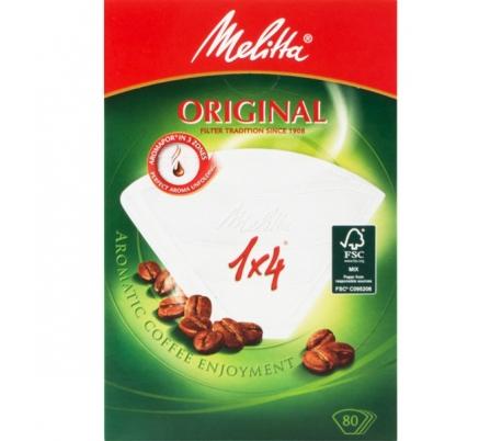 FILTROS CAFE PAPEL MELITTA 1X4
