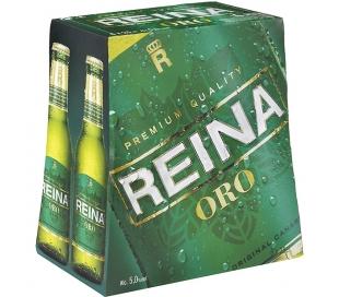 CERVEZA PREMIUM QUALITY REINA ORO BOT. 6X250 ML.