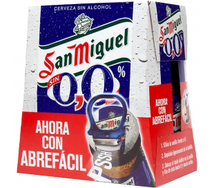 CERVEZA 0% SIN ALCOHOL SAN MIGUEL PACK 6X250 ML.