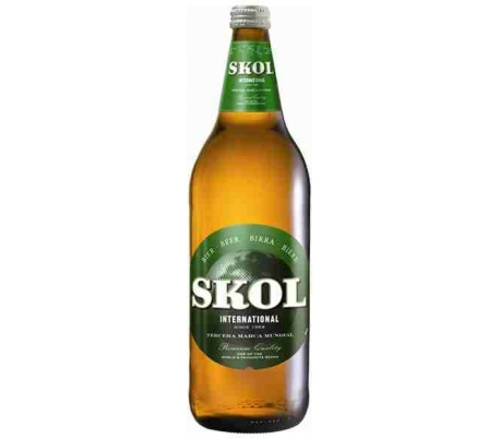 CERVEZA INTERNATIONAL SKOL BOTELLA 1L.