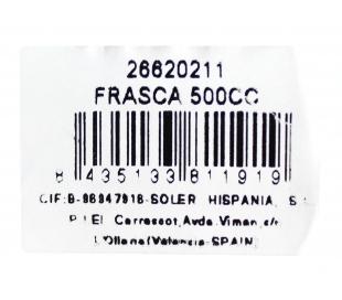 BOTELLA CUADRADA TAPA CORCHO MEDITERRANEO 500 CC.