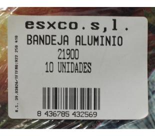 BANDEJA ALUMINIO 21900 ESXCO 10 UN.