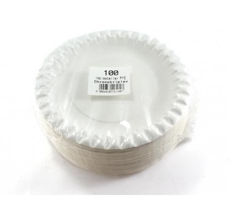 PLATO CARTON 15CM.100/UND