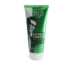 GEL FIJADOR NATURAL LOOK FUERTE GARNIER 200 ML.