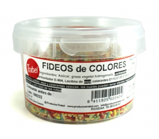 FIDEOS COLORES TRABEL 150 GR.