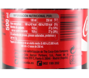 COCA COLA PET 500ML. +