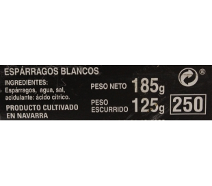 ESPARRAGOS EXTRA BLANCO 6/12 FERBA LATA 125 GRS.