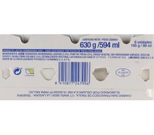 YOG. L-CASEI FRESA ACTIMILLAC PACK 6X105 ML.