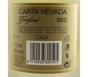 CAVA CARTA NEVADA SECO FREIXENET 75 CL.
