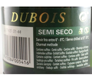CAVA SEMISECO DUBOIS 75 CL.