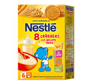 PAPILLA 8 CEREALES C/GALLETA NESTLE 600 GR.