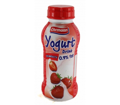 YOGUR LIQUIDO 0.9% FRESA EHRMANN 330 ML.
