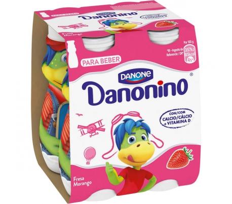 YOGUR LIQUIDO DANONINO BEBEDINO DANONE PACK 4X100 GRS.