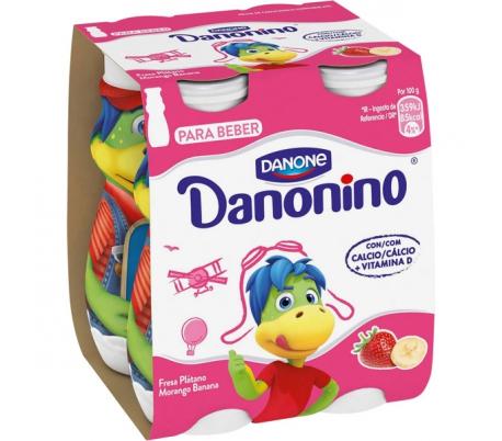 PETIT DANONINO FRESA PLATANO DANONE PACK 4X100 GRS.
