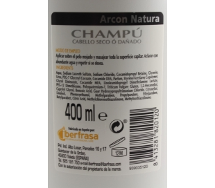 CHAMPU ANTICASPA C/NORMAL ARCON NATURA 400 ML.