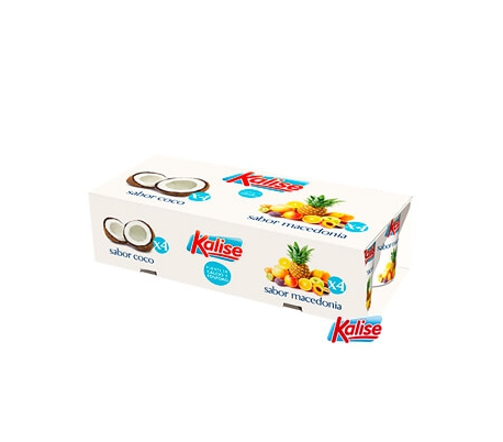 YOGUR SABOR COCO MACEDONIA KALISE PACK 8X125 GRS.