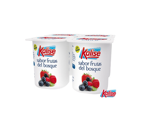 YOGUR SABOR FRUTA BOSQUE KALISE PACK 4X125 GRS.