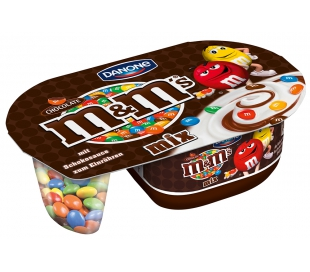 YOGUR CON CREMA CHOCOLATE M&M MIX DANONE 120 GRS.