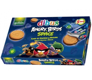 GALLETAS ANGRY BIRDS SPACE GULLON DIBUS 315 GR.