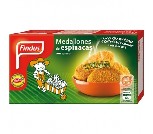 ESPINACA MEDALLON FINDUS 300 GR.