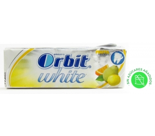 CHICLES WHITE FRUTA/NARANJA ORBIT 14 GRS.