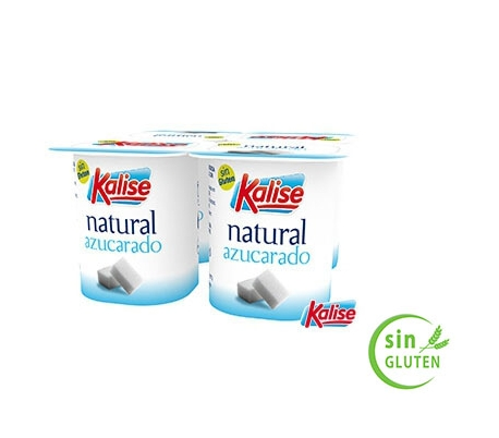 YOGUR NATURAL AZUCARADO KALISE PACK 4X125 GRS.