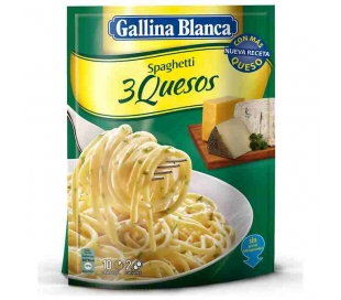 SPAGHETTI 3 QUESOS GALLINA BLANCA 170 GR.