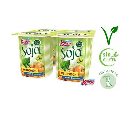 yogur-zero-soja-melocoton-kalise-pack-4x125-grs