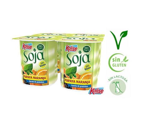 yogur-zero-soja-papaya-naranja-kalise-pack-4x125-grs