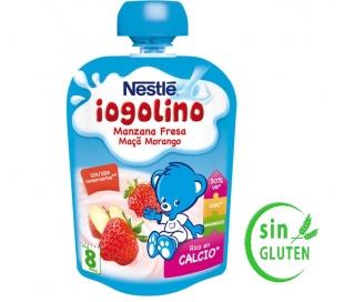 POSTRE INFANTIL POUCHE MANZA-FRESA IOGOLINO 90 GRS.