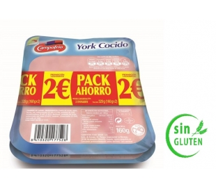 YORK COCIDO CAMPOFRIO PACK 2X160 GRS.