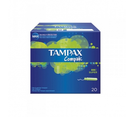 TAMPON SUPER COMPAK TAMPAX 20 UDS.