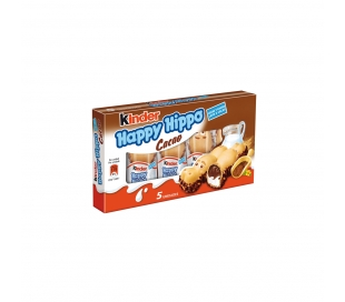 BARQUILLO HAPPY HIPPO CACAO KINDER 5 UD.