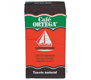 CAFE MOLIDO NATURAL ORTEGA 250 GR.