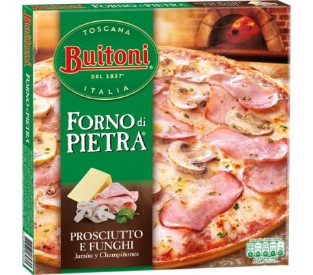 PIZZA FORNO PIETRA PROSCIUTTO E FORMAGG BUITONI 360 GRS.