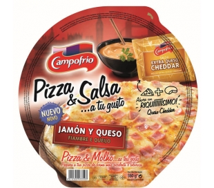 PIZZA JAMON QUESO BECHAM. CAMPOFRIO 410 GR.