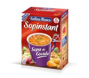 SOPA SOPINSTANT COCIDO GALLINA BLANCA 45 GRS.
