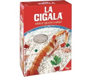 ARROZ GRANO LARGO CIGALA 1 KG.