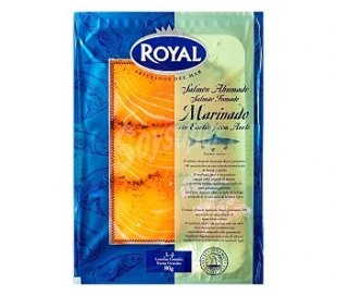 SALMON NORUEGO MARINADO ROYAL 80 GRS.