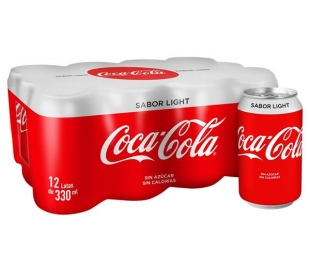 REFRESCO LIGHT COCA COLA PACK 12X330 ML.