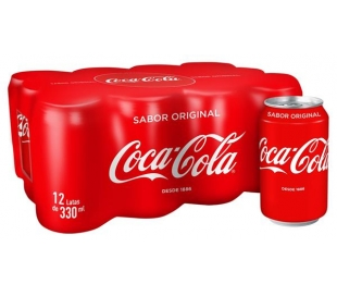 REFRESCO LATA COCA COLA PACK 12X330 ML.