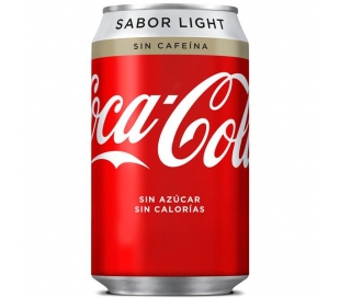 REFRESCO LIGHT SIN CAFEINA COCA COLA 330 ML.