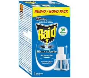 RECAMBIO MOSQUITOS ELECTRICO RAID 30 NOCHES