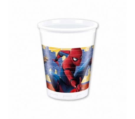 VASOS DECORADOS 200ML. SPIDER-MAN 10 UN.