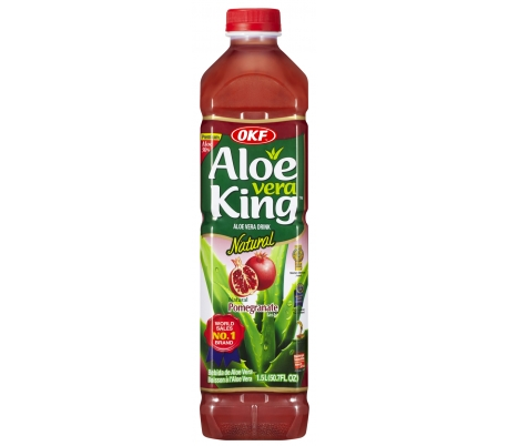 BEBIDA ALOE VERA GRANADA NATURAL ALOE KING 1.5 L.