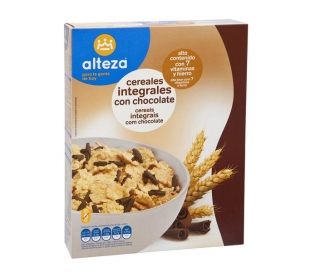 CEREALES INTEGRALES CON CHOCOLATE ALTEZA 350 GRS.